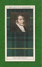 Macarthur Clan Arthur Tartan 1927 original card Highland Clan Argyll