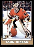 2020-21 UD O-Pee-Chee Retro Black Border #304 John Gibson /100 - Anaheim Ducks