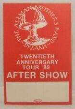 Allman Brothers - Gregg - Original Cloth Concert Tour Backstage Pass *Last One*