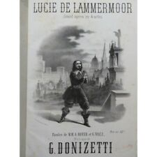 DONIZETTI G. Lucie de Lammermoor Opéra Chant Piano ca1860 partition sheet music