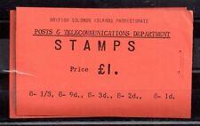 British Solomon Islands 1960 £1 complete booklet (staple missing) SB4 WS8930