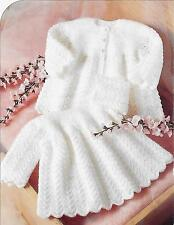 """Vintage Baby Knitting Pattern, 16-20"""" DK and 4 ply, Dress and Cardigan 650"""