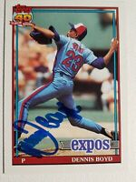 1991 Topps Dennis Oil Can Boyd Autograph Card Red Sox Auto Expos Signed #48