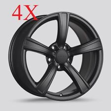 Drag Wheels DR-72 18x8.5 5x112 et43 cb66.56 Flat Black Rims Mercedes Benz Audi