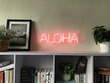 New Aloha Neon Art Sign Handmade Visual Artwork Wall Home Decor Light