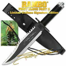 RAMBO FIRST BLOOD PART II  Sylvester Stallone Signature Licensed knife SUPER