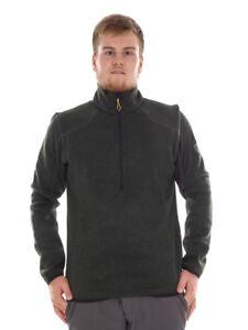 CMP Fleece Pullover Knit Functional Sweater Green Stand up Collar Knittech