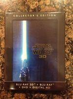 Star Wars:The Force Awakens 3D(Blu-ray/DVD,2016,+Digital)NEW Authentic Disney