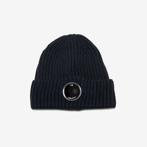 C.P. Company Uni Goggle Beanie Hat - Navy