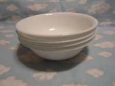 CORELLE/CORNING=WINTER FROST WHITE SOUP/CEREAL BOWLS=SET OF 4!!