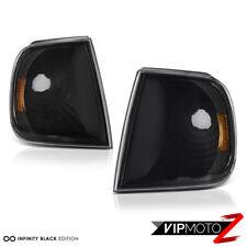 [LEFT+RIGHT] 1997-2003 Ford F150 Black Parking Signal Bumper Corner Lights Lamps