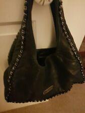 Black Leather Chanel Bo Ho Bag