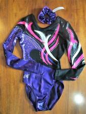 Alpha Factor Competition Foil Crystals Leotard ASM Gymnastics
