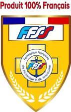 Autocollant pare brise : FFSS Fédération Française de sauvetage et de secourisme