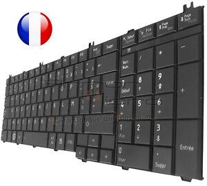 Clavier Original Français Azerty Pour TOSHIBA Satellite C670 C670D - Noir laqué