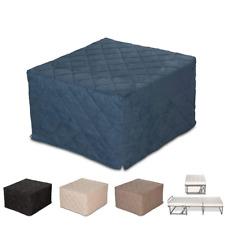 Evergreenweb Pouf letto salvaspazio con Materasso Waterfoam Blu Ortopedico
