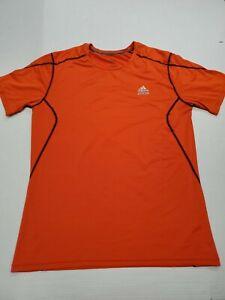 Men's Adidas Techfit Men's Orange Activewear Short Sleeve T-Shirt Large Good Con