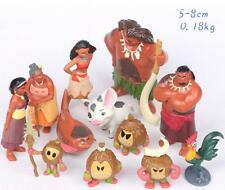 Marine 12pcs Moana Princess mixed Animal Doll Anime Action Figure Xmas kids Toys