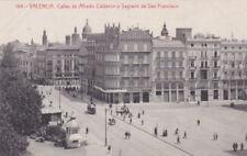 POSTCARD SPAIN VALENCIA CALLES DE ALFREDO CALDERON Y SAGRARIO DE SAN FRANCISCO