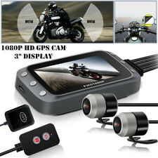 "1080P HD GPS Dash 3"" Motorcycle Front+Back Dual Camera DVR  Wide-angle Recorder"