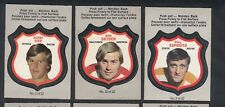 1972-73 O-PEE-CHEE PLAYER CREST FULL SET 22/22