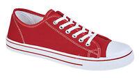 Mens Boys Lace Up Fitness Gym Sports Trainers Plimsolls Canvas Pumps Shoes Size