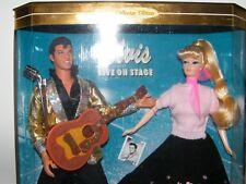 "1996 Collectors Edition Barbie Loves Elvis 2 Doll Gift Set 11.5"" Dolls"