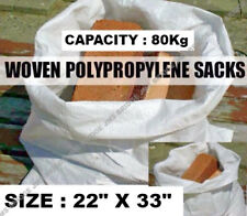 100 X RUBBLE SACKS WOVEN LARGE EXTRA HEAVY DUTY  SAND BAG POLYPROPYLENE BUILDER