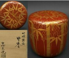 Tea Caddy Ceremony Natsume Sado Japanese Traditional Crafts Soetsu Nakamura red