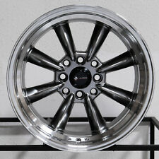 "4-New 15"" Vors TR9 Wheels 15x8 4x100/4x114.3 20 Hyper Black Rims"