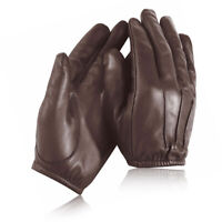 Combat Security Police Anti Slash Fire Resistant Leather Gloves Style New