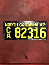 1947 North Carolina Tag Ca82316