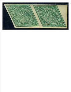 U.S. Local, Fresno Bicycle Mail, Imperf pair, MNH