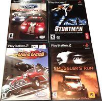 Original Playstation 2 PS2 Game lot Smugglers run Stuntman Ford Top Gear racing