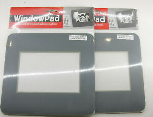 (2) Giraffics - Gray Photo Slotted 4x6 Window MousePad - Sealed - NEW F40