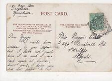 Miss Maggie Creake Staniforth Road Attercliffe Sheffield 1904 693a