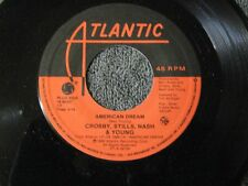 "Crosby Stills Nash Young american dream - 45 Record Vinyl Album 7"""