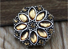 3D Rhinestone Snaps Chunk Charm Button Fit For Noosa Bracelets D JoMacDesigns