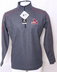 NEW St. Saint Louis Cardinals Antigua shirt LS 1/4 Zip Crewneck Jacket Men's L