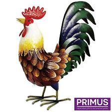 Primus Farmyard Metal Rooster Garden Sculpture Ornament PQ1201 Gift Idea