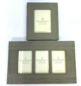 Pottery Barn 4 X 6 & 5x 7 Gallery Picture Frame Weathered Wood Farmhouse Style