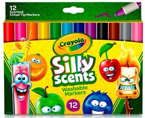 Crayola Silly Scents Chisel Tip Markers - 12 pack - New