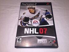 NHL 07 - Hockey Game (Playstation PS2) Black Label Original Complete Excellent!
