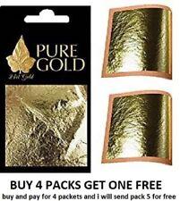 Gold Leaf 24CT  100% Genuine  Gold on Base Sheets - 10 Sheets