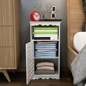 Wooden Bathroom Cabinet Shelf Storage Cupboard Toilet Unit Free Standing