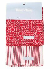 2 Pack Tea Towel Pack | Cook The Australian Women's Weekly | 100% Cotton | Red