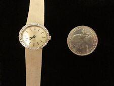 Vintage Patek Philippe Manual Wind Ladies 18K White Gold Diamond Watch 3350/1