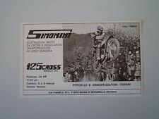 advertising Pubblicità 1973 MOTO SIMONINI 125 CROSS e TOMMASO LOLLI