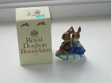 Royal Doulton Bunnykins Billie & Buntie Sleigh Ride 1972 with Box