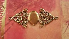 Large Matte Gold Ox Fancy Connector Cameo Setting (1) - GORAT3317